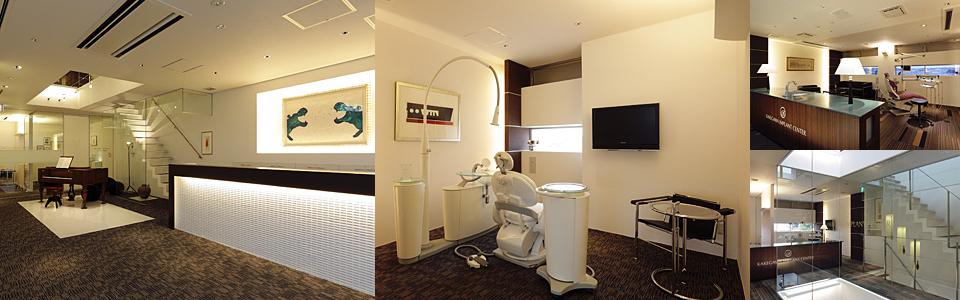 医院案内 落ち着いた雰囲気のカウンターと清潔感ある診察室